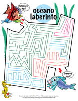 Spanish Ocean Maze Sheet For Pediatric Dentists