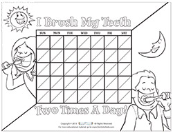 picture regarding Printable Tooth Brushing Charts known as Motivational Charts for Small children upon Brushing Tooth