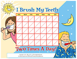 photo about Printable Tooth Brushing Charts identify Motivational Charts for Small children upon Brushing Enamel